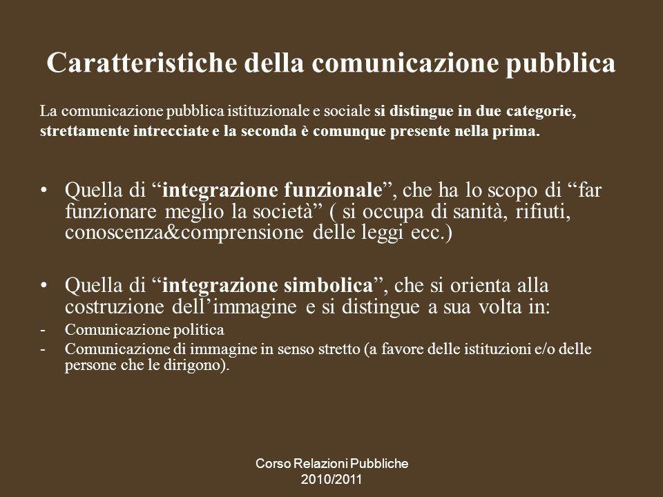Caratteristiche della comunicazione pubblica