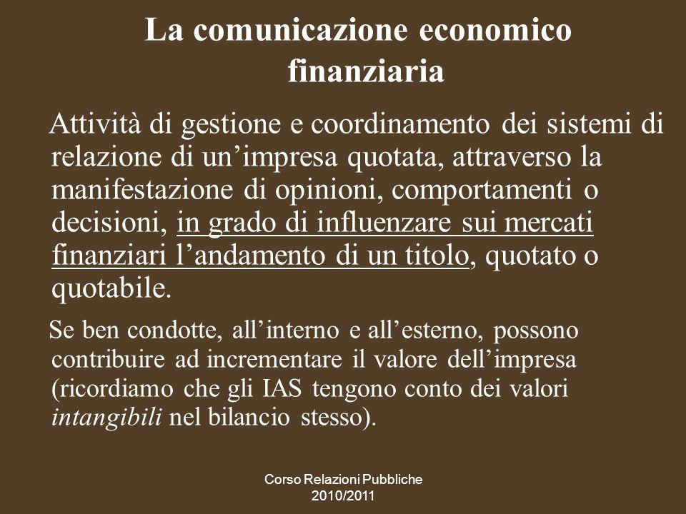 La comunicazione economico finanziaria