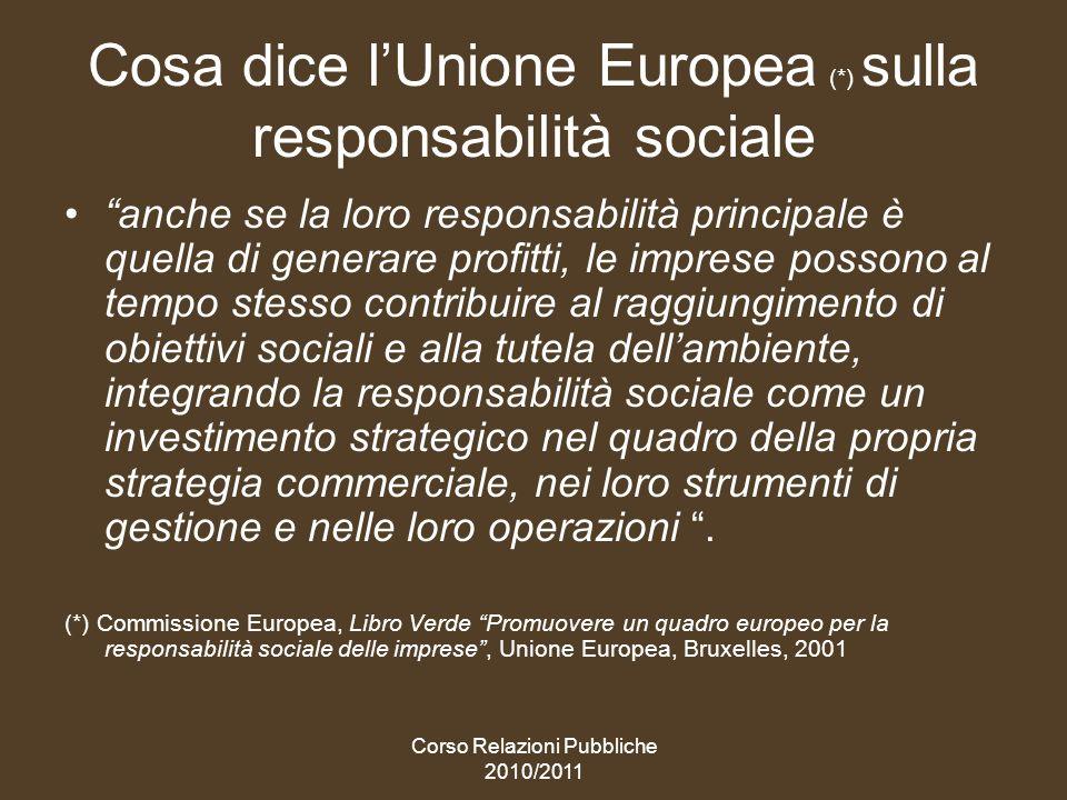 Cosa dice l'Unione Europea (*) sulla responsabilità sociale