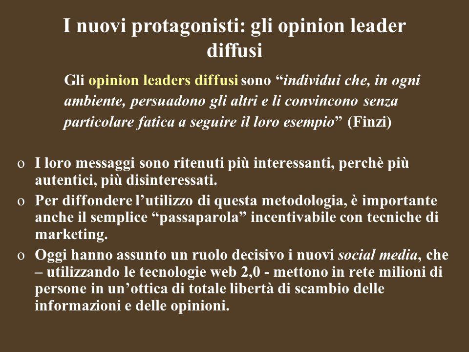 I nuovi protagonisti: gli opinion leader diffusi