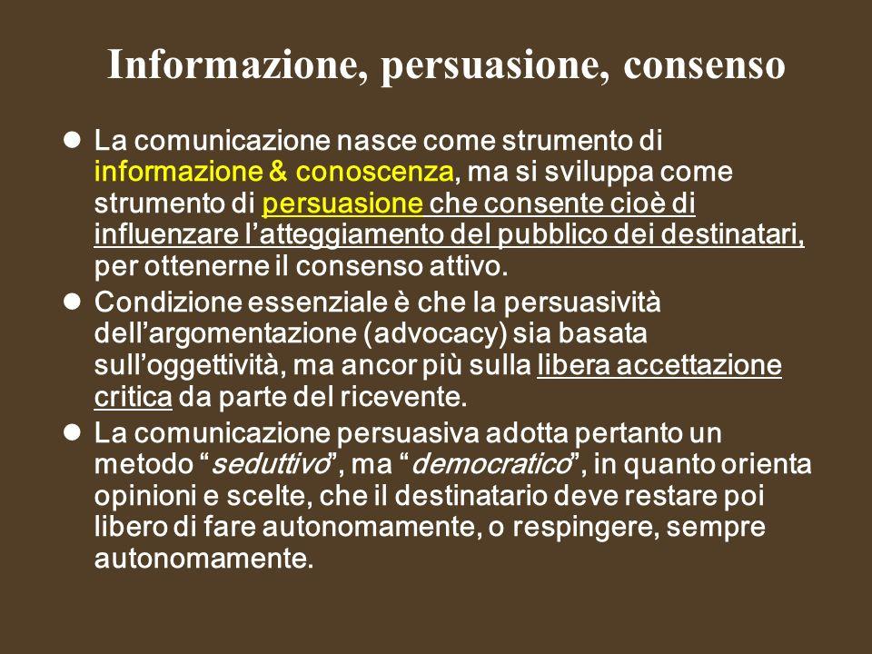 Informazione, persuasione, consenso