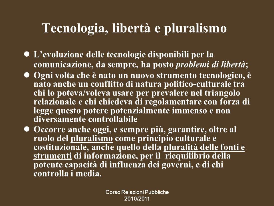 Tecnologia, libertà e pluralismo