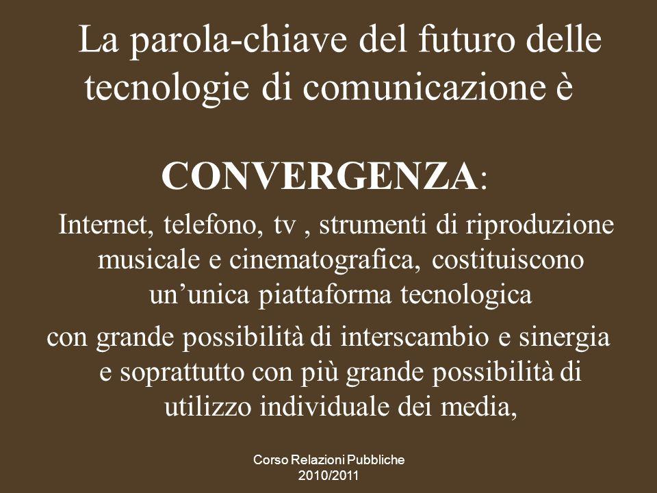La parola-chiave del futuro delle tecnologie di comunicazione è