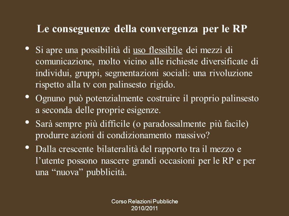 Le conseguenze della convergenza per le RP