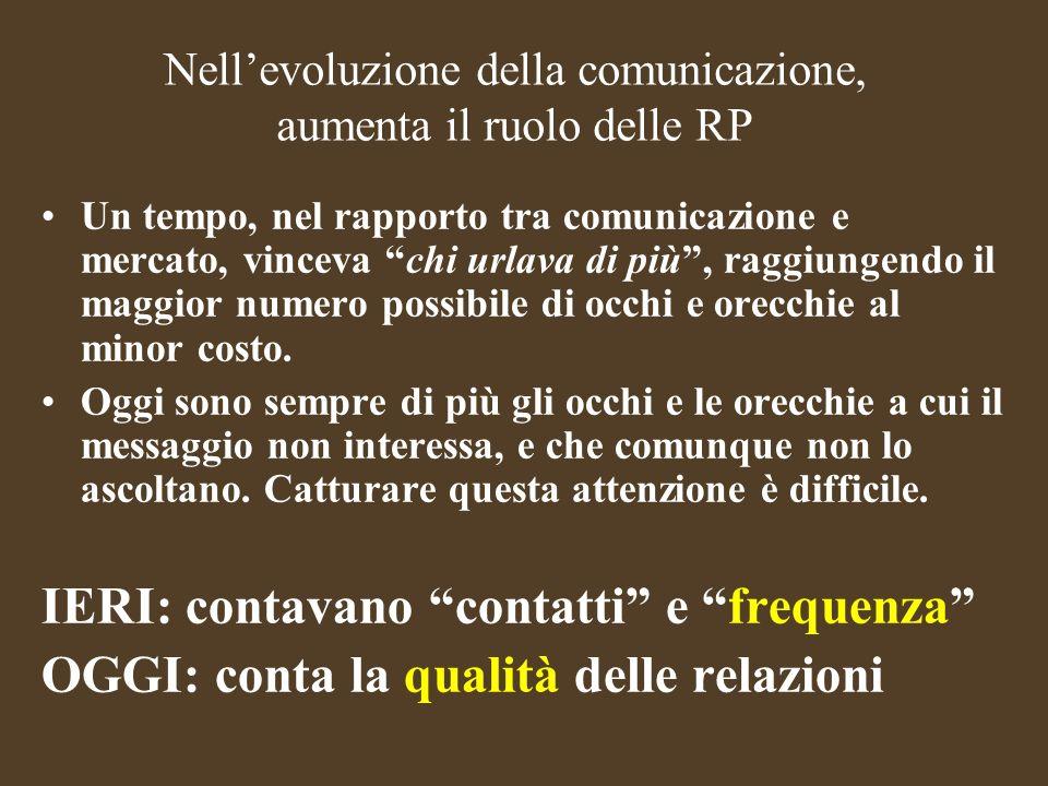 Nell'evoluzione della comunicazione, aumenta il ruolo delle RP