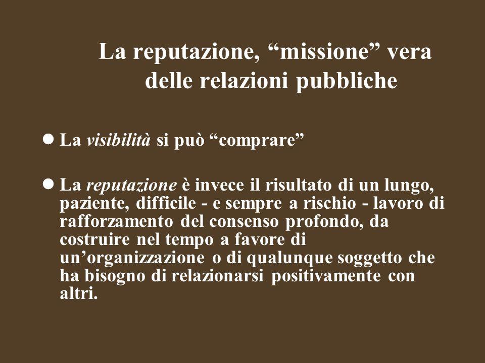 La reputazione, missione vera delle relazioni pubbliche