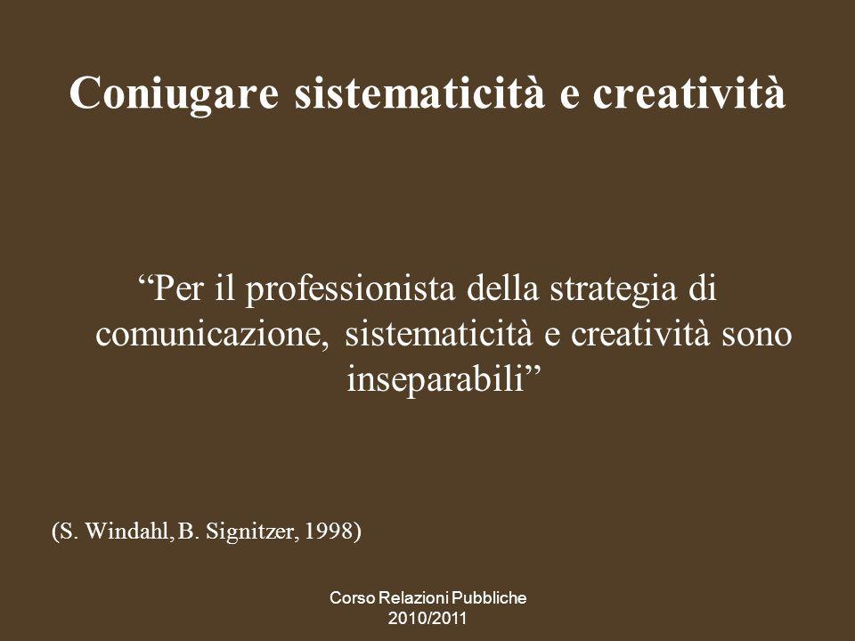 Coniugare sistematicità e creatività