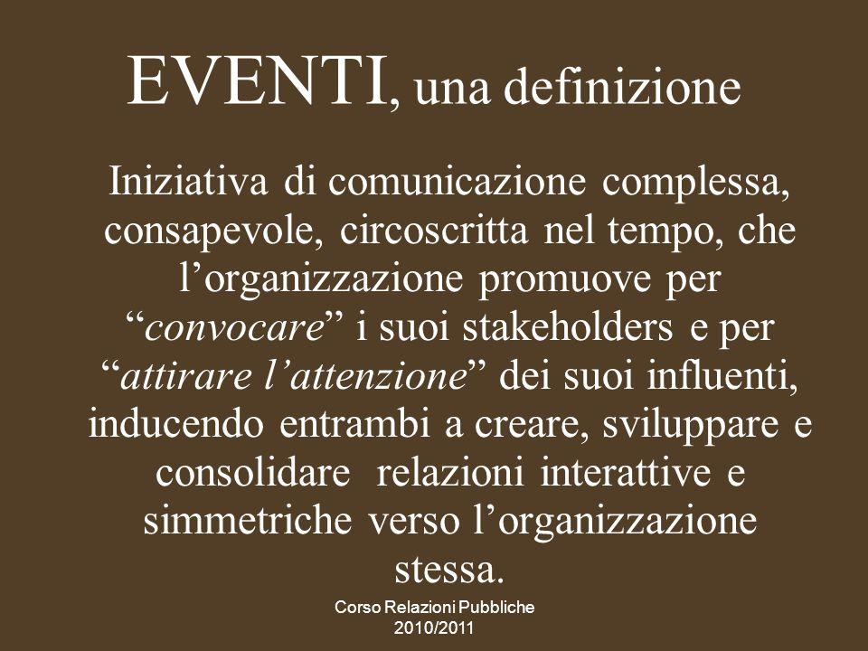 EVENTI, una definizione