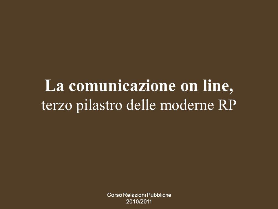 La comunicazione on line, terzo pilastro delle moderne RP