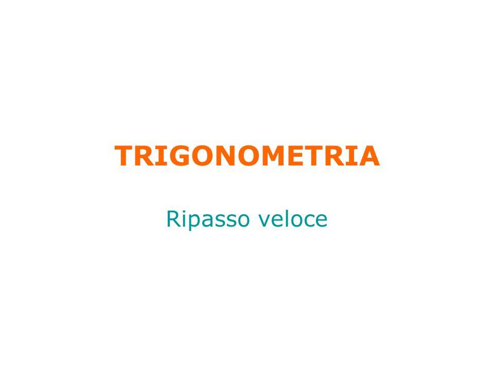 TRIGONOMETRIA Ripasso veloce