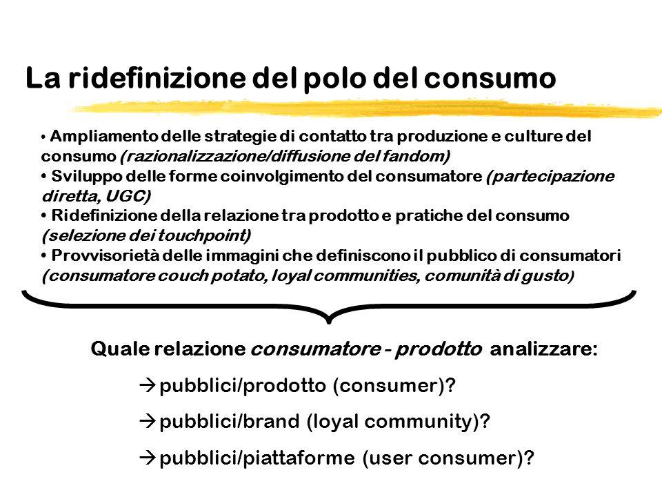 La ridefinizione del polo del consumo