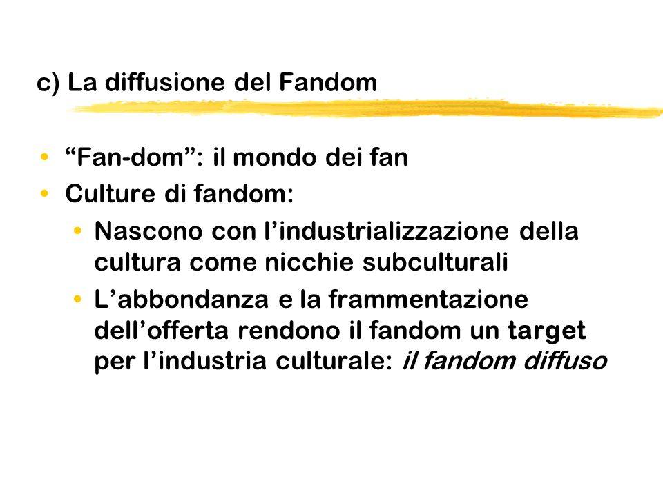 c) La diffusione del Fandom