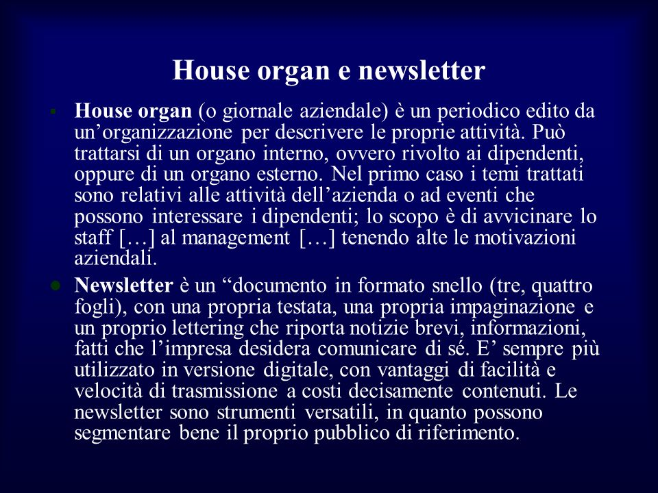 House organ e newsletter