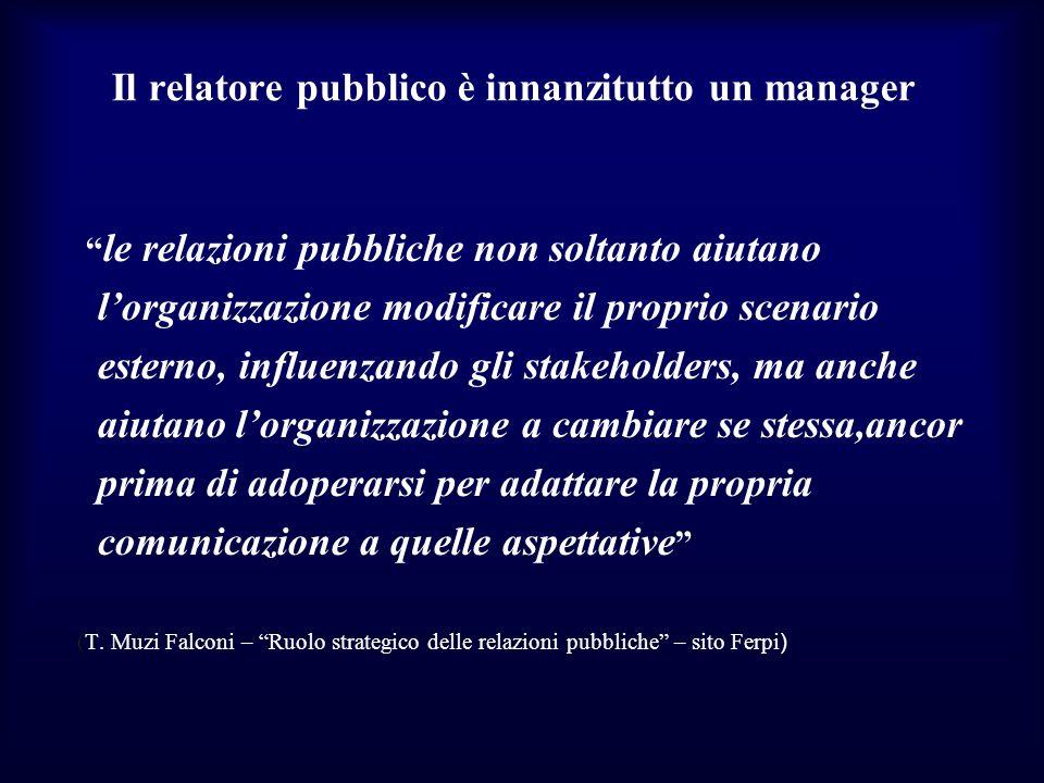 Il relatore pubblico è innanzitutto un manager