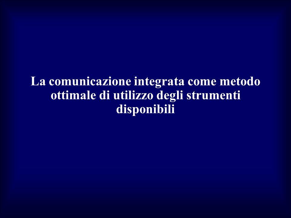 La comunicazione integrata come metodo ottimale di utilizzo degli strumenti disponibili