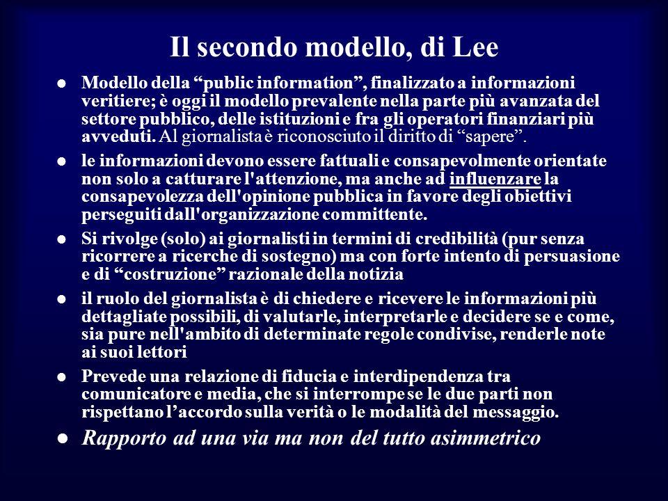 Il secondo modello, di Lee