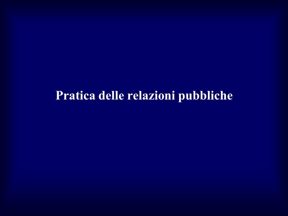 Pratica delle relazioni pubbliche