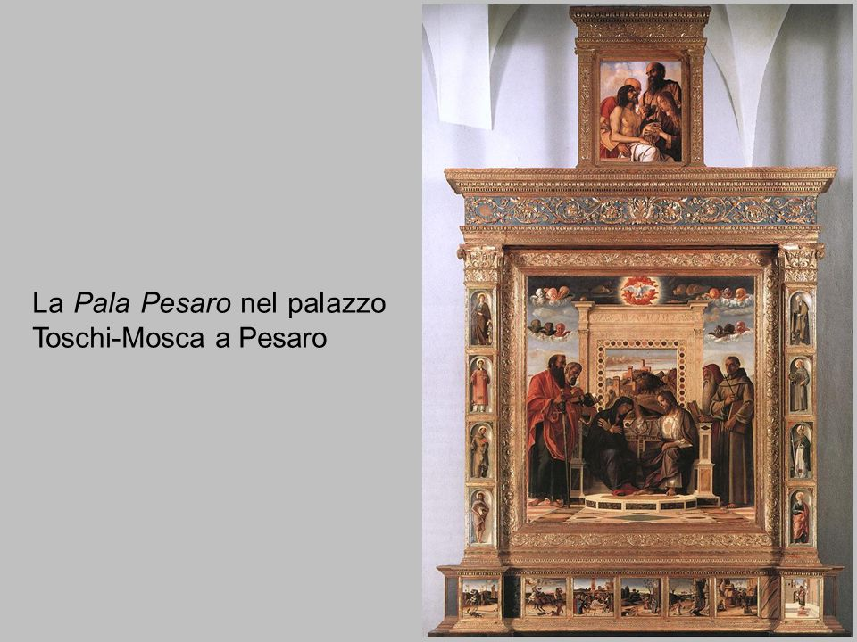 La Pala Pesaro nel palazzo Toschi-Mosca a Pesaro