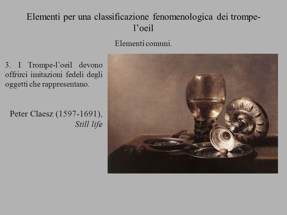 Elementi per una classificazione fenomenologica dei trompe-l'oeil