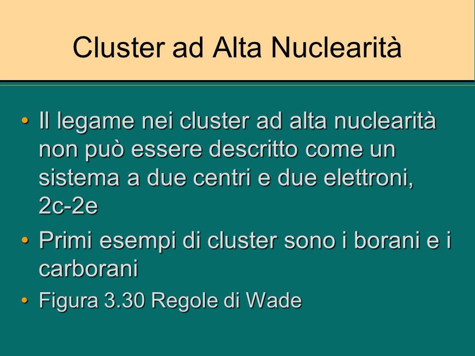 Cluster ad Alta Nuclearità