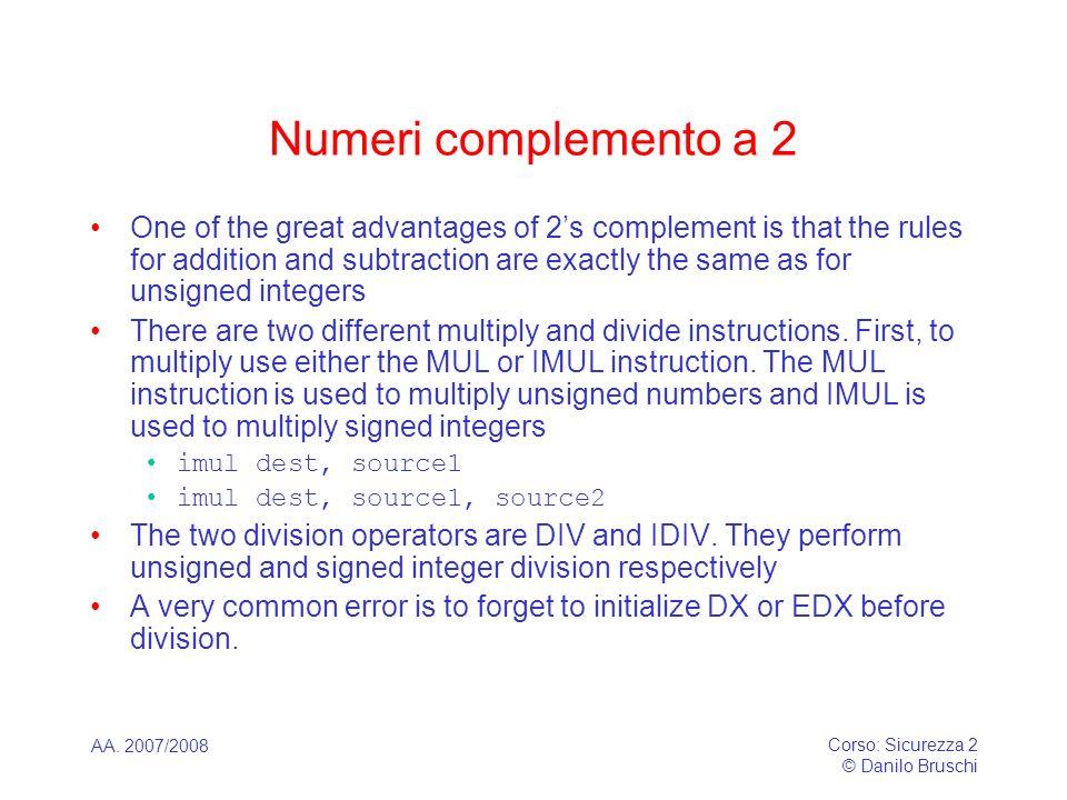 Numeri complemento a 2