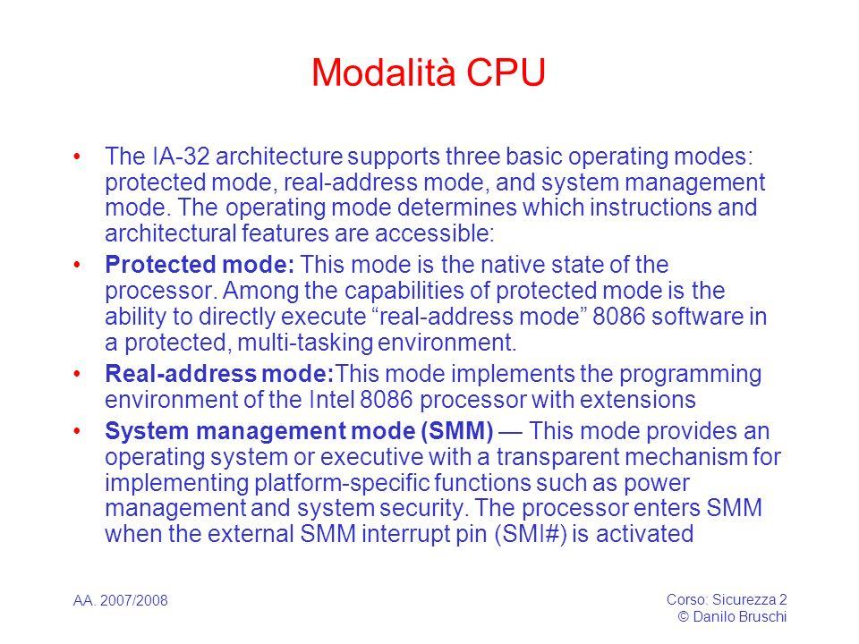 Modalità CPU