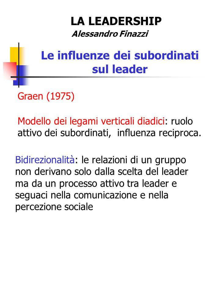Le influenze dei subordinati sul leader