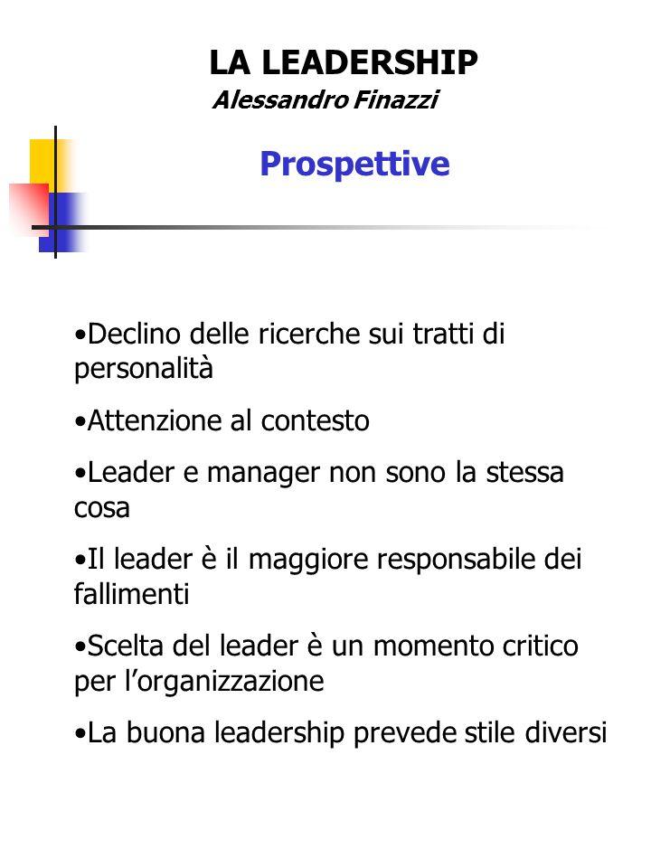 LA LEADERSHIP Prospettive