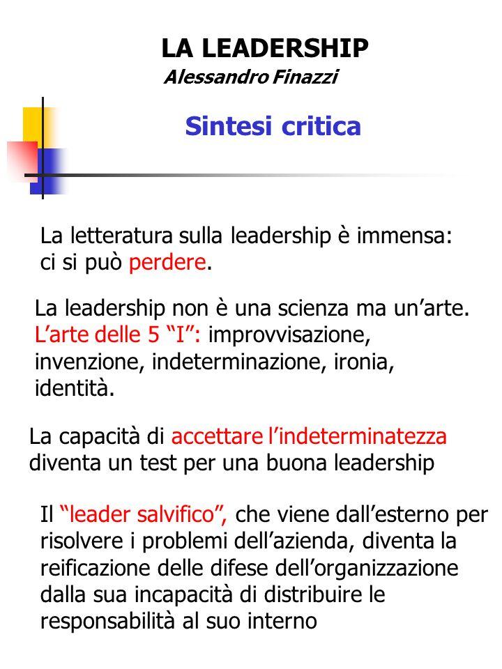 LA LEADERSHIP Sintesi critica