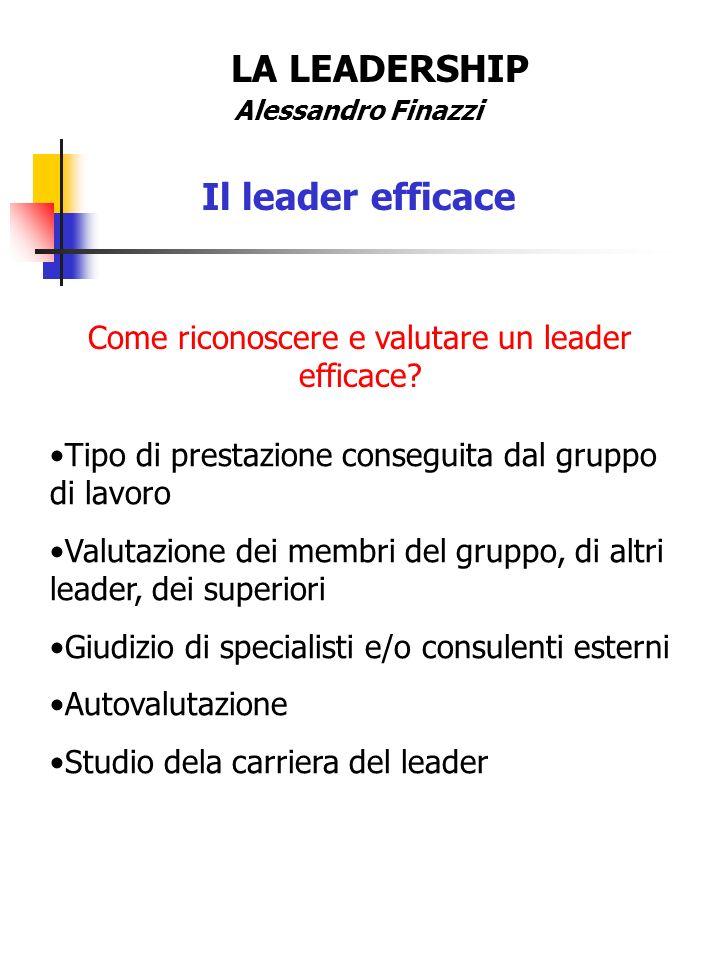 Come riconoscere e valutare un leader efficace