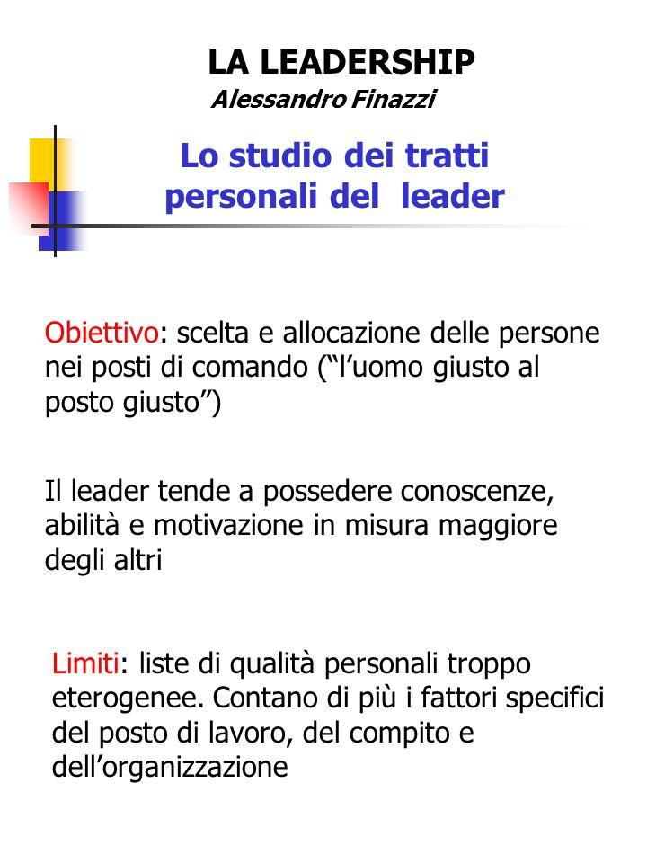 Lo studio dei tratti personali del leader