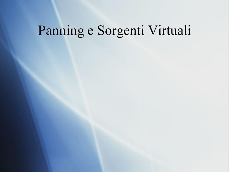 Panning e Sorgenti Virtuali