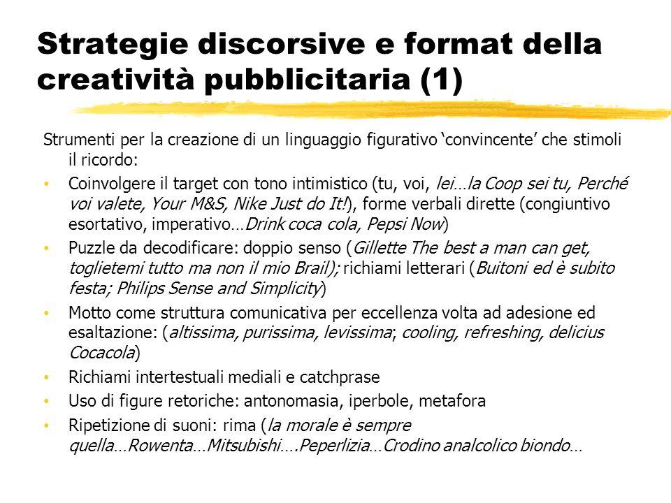 Strategie discorsive e format della creatività pubblicitaria (1)