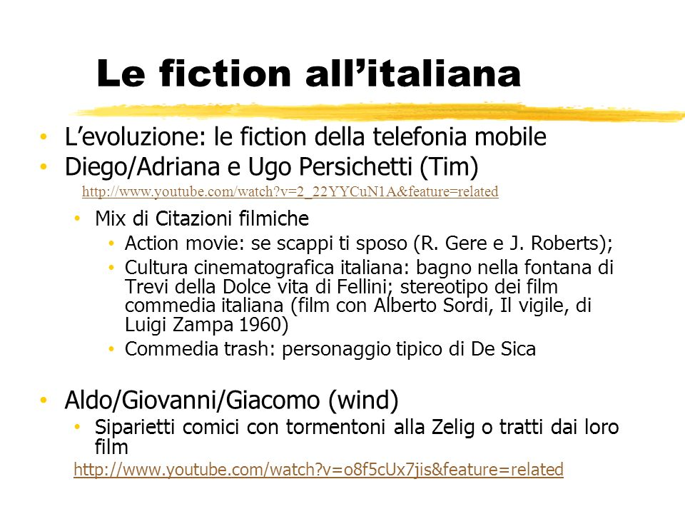Le fiction all'italiana