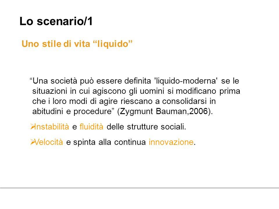 Lo scenario/1 Uno stile di vita liquido