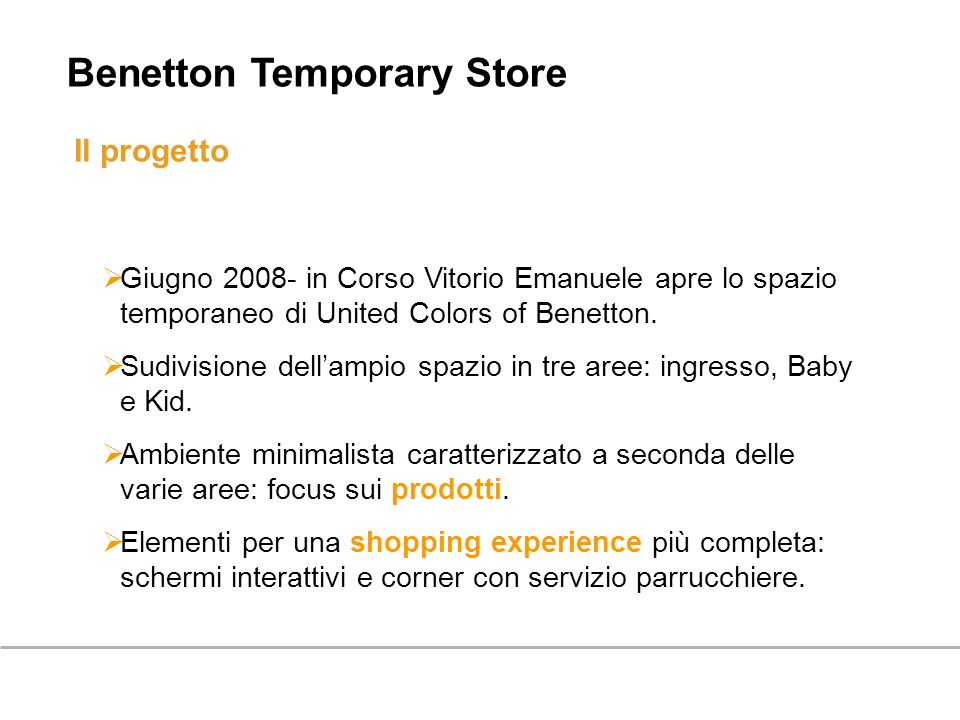 Benetton Temporary Store