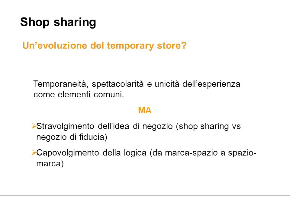 Shop sharing Un'evoluzione del temporary store