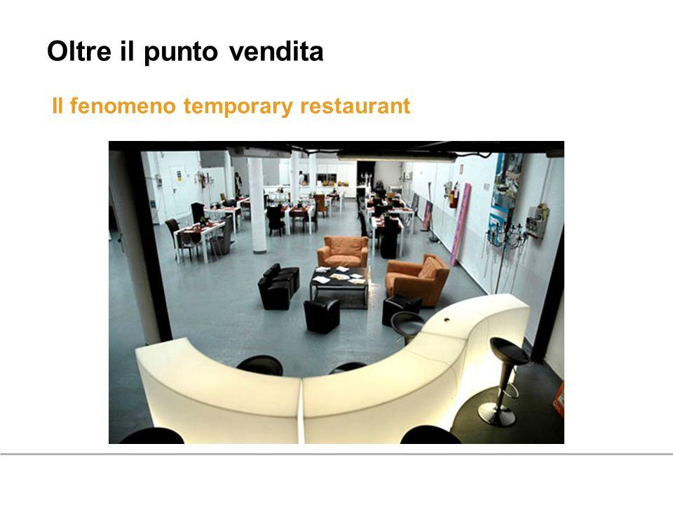 Oltre il punto vendita Il fenomeno temporary restaurant 47