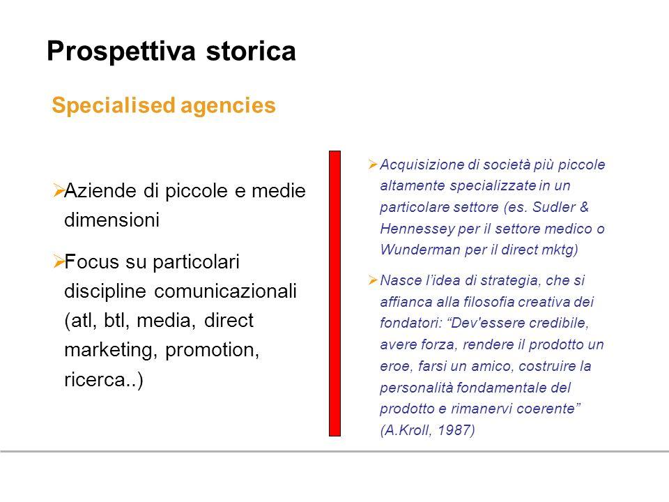 Prospettiva storica Specialised agencies