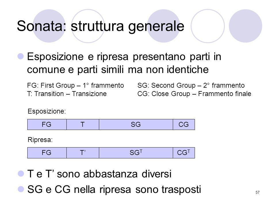 Sonata: struttura generale