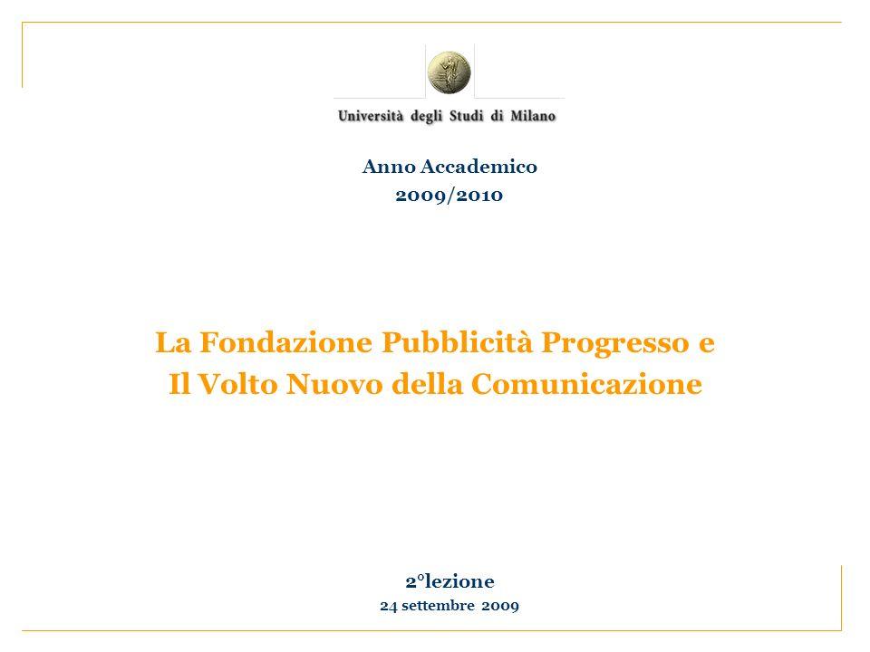 La Fondazione Pubblicità Progresso e