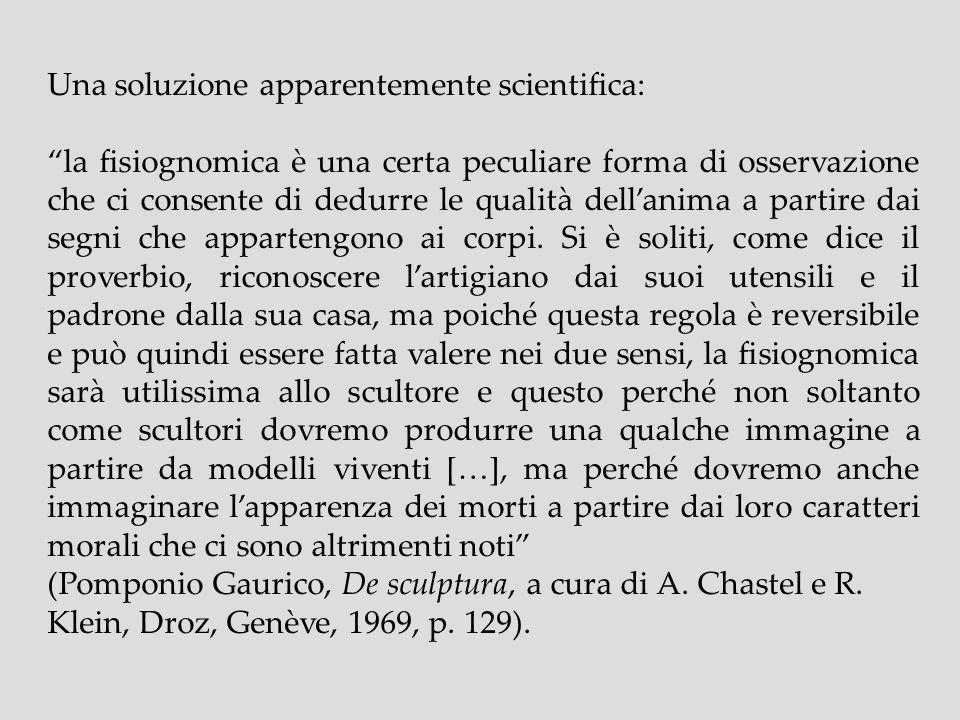 Una soluzione apparentemente scientifica:
