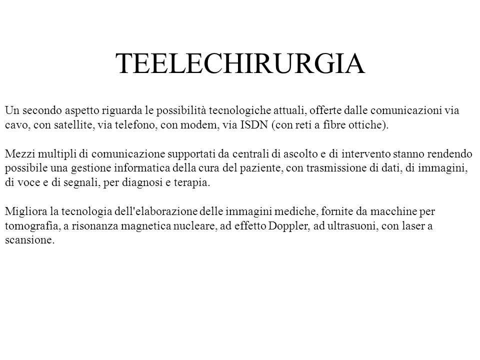 TEELECHIRURGIA