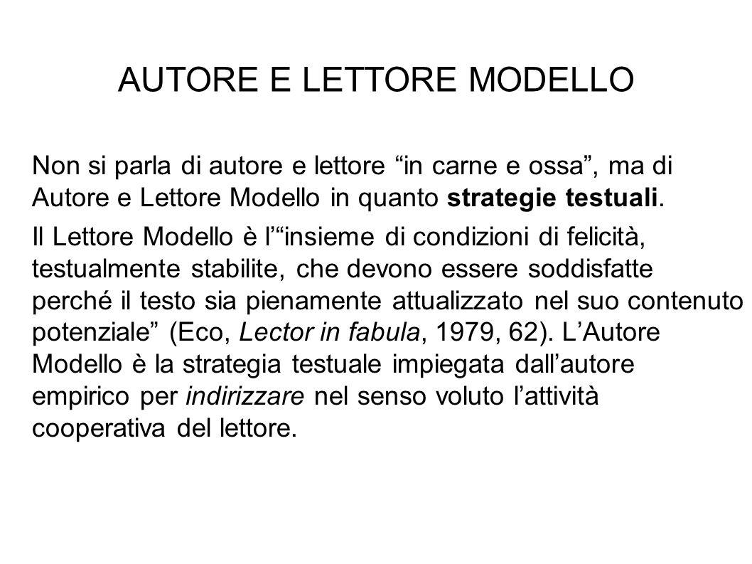 AUTORE E LETTORE MODELLO