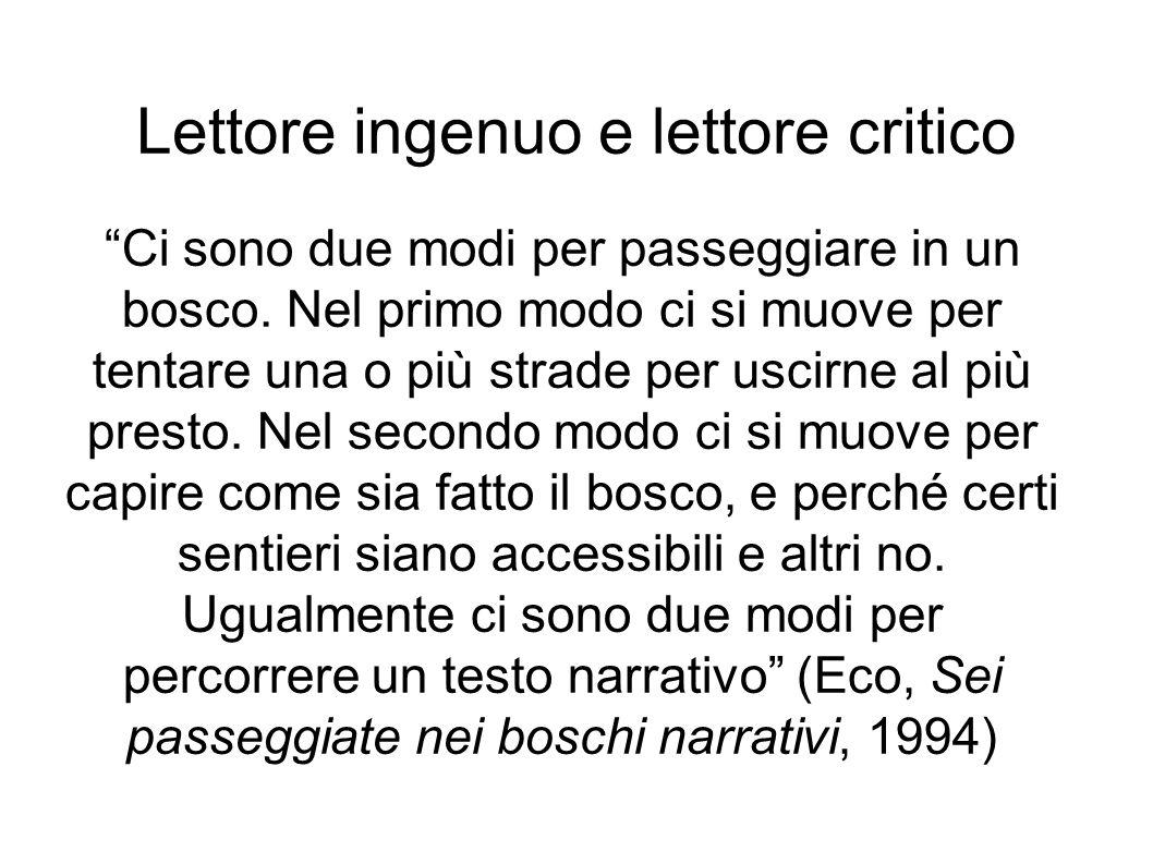Lettore ingenuo e lettore critico
