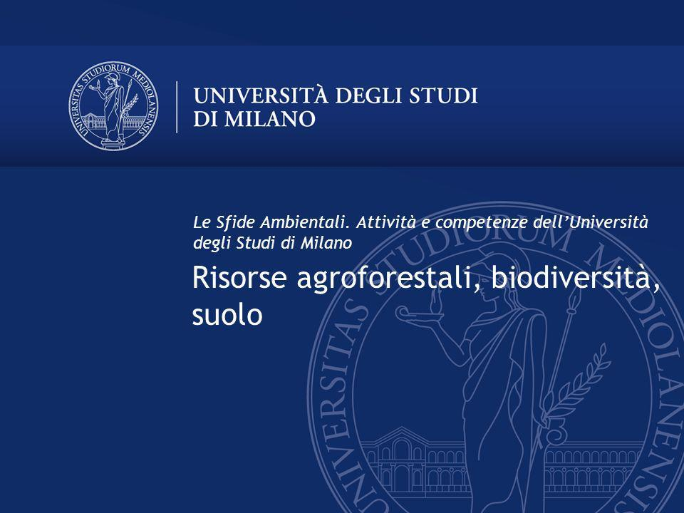 Risorse agroforestali, biodiversità, suolo