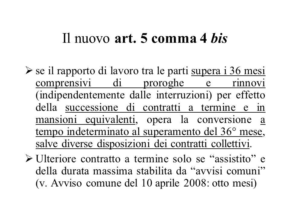 Il nuovo art. 5 comma 4 bis