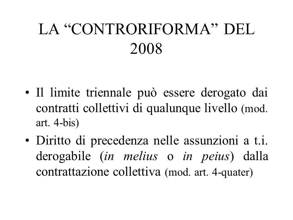 LA CONTRORIFORMA DEL 2008