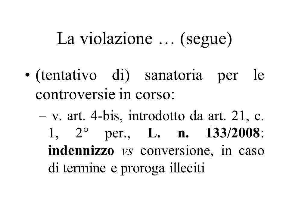 La violazione … (segue)