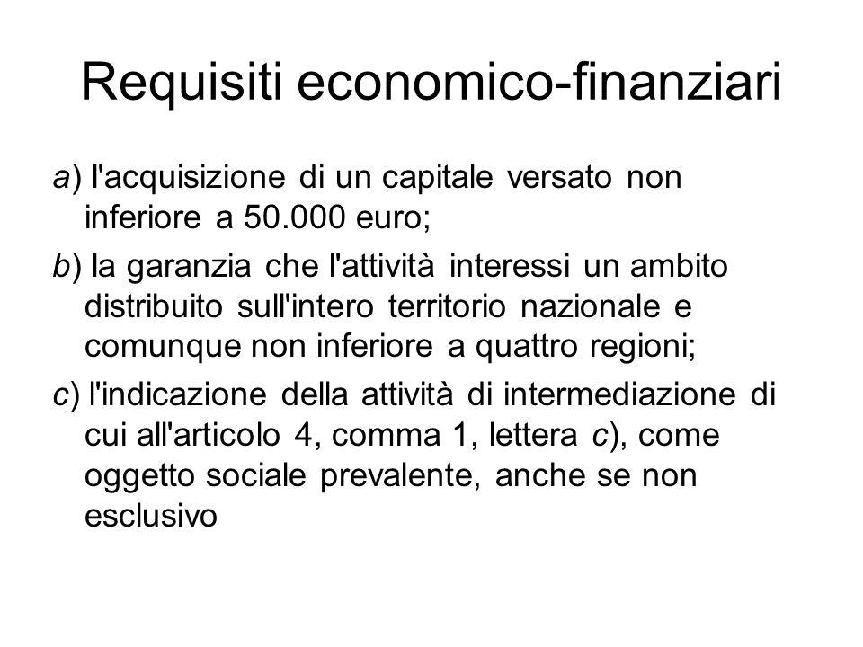 Requisiti economico-finanziari